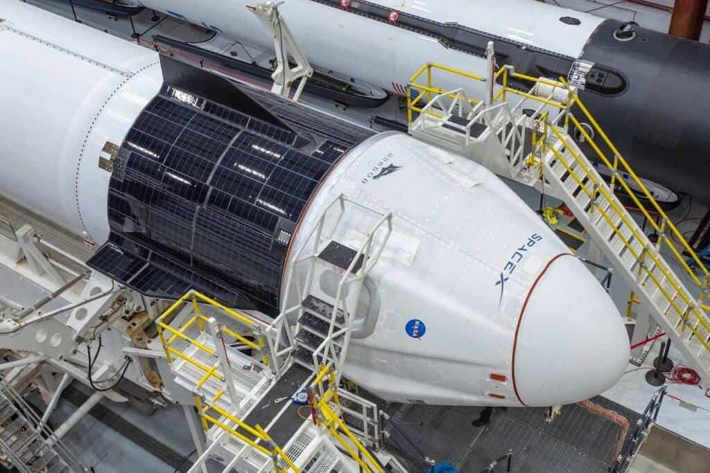 Capsule Crew Dragon de SpaceX.